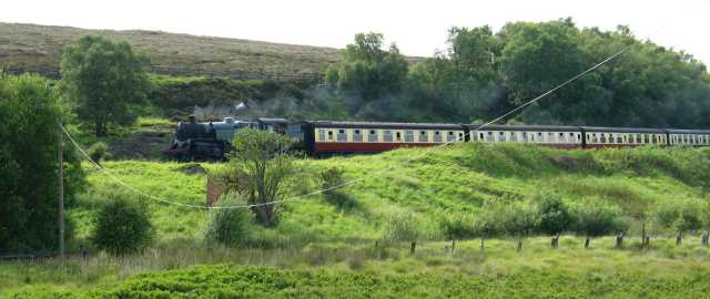 A train on the North York Moors railway