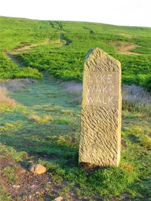 The stone at the start of the Lyke Wake Walk