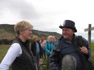 Colin Walker being interviewed by Clare Balding